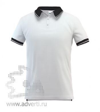Рубашка поло «Stan Contrast», мужская, белая