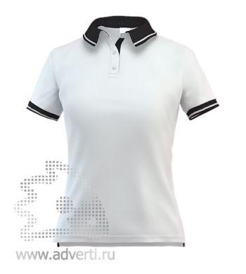 Рубашка поло «Stan Contrast W», женская, белая с черным