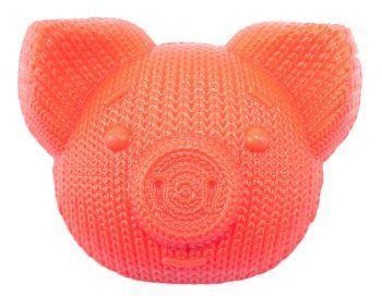 Мыло «Свинка вязаная», красное