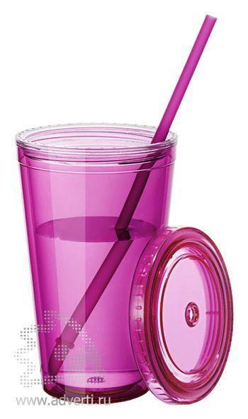Стакан «Cyclone», розовый, в открытом виде