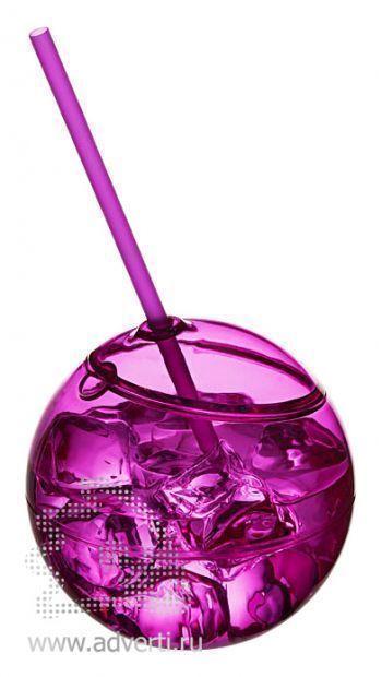 Емкость для питья «Fiesta», розовая, со льдом