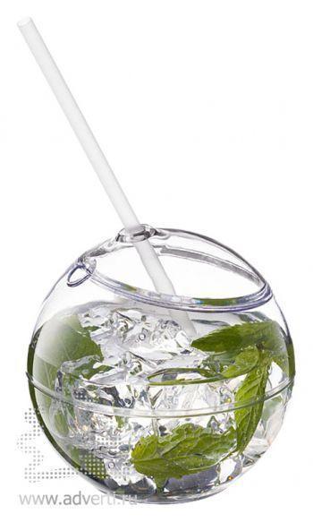 Емкость для питья «Fiesta», прозрачная, со льдом и мятой