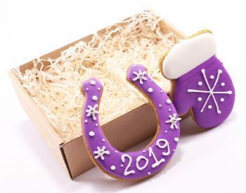 Новогодний набор имбирных пряников «Подкова + Варежка малая», коробка не входит в стоимость