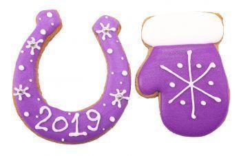 Новогодний набор имбирных пряников «Подкова + Варежка малая»