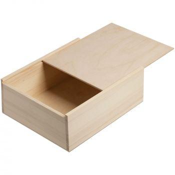 Деревянный ящик «Timber», большой, выдвижная крышка