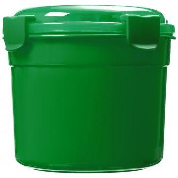 Ланчбокс «Barrel Roll», зелёный, вид сбоку
