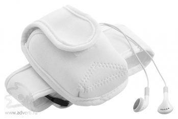 Чехол для электронных приборов с застежкой на плече, общий вид белого