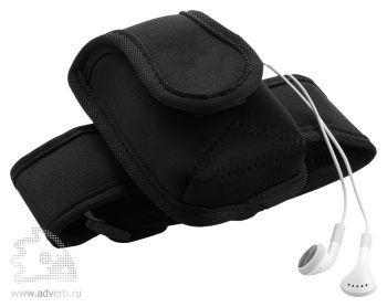 Чехол для электронных приборов с застежкой на плече, общий вид черного