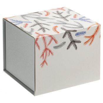 Фарфоровая елочная игрушка «Twitt», коробка в шуберте, вид сзади