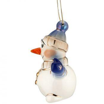 Фарфоровая елочная игрушка «Olaf», вид сбоку