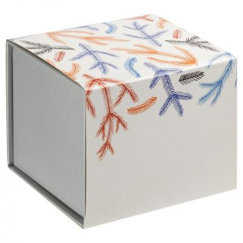 Фарфоровая елочная игрушка «Olaf», коробка в шуберте, вид сзади