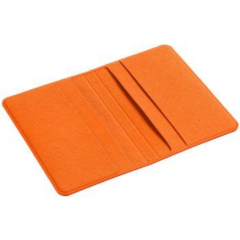 Визитница «Devon», оранжевая, в открытом виде