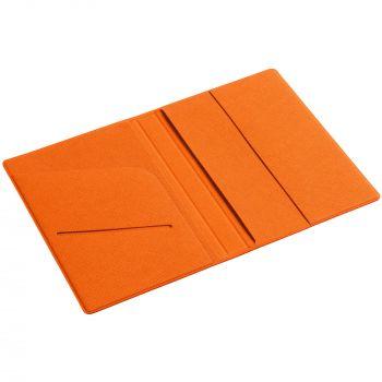 Обложка для паспорта «Devon», оранжевая, в открытом виде