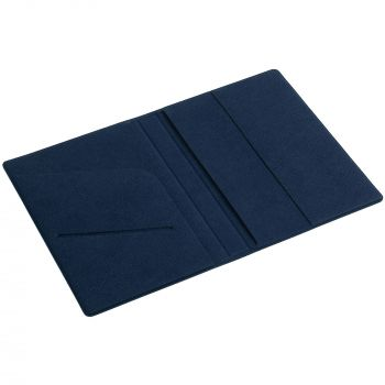 Обложка для паспорта «Devon», синяя, в открытом виде