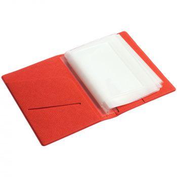 Обложка для автодокументов «Devon», красная в открытом виде