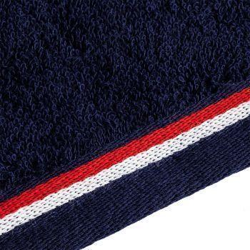 Полотенце Athleisure Large, синее, окантовка