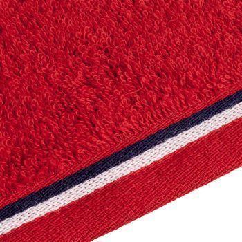Полотенце Athleisure Large, красное, окантовка