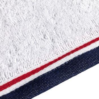 Полотенце Athleisure Large, белое, окантовка