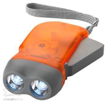 Фонарь Virgo с механической подзарядкой оранжевый