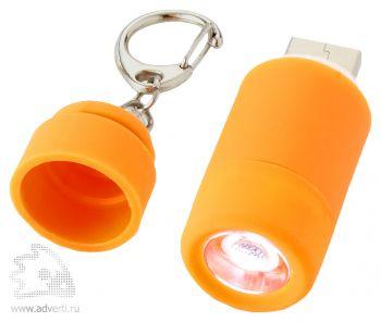 Мини-фонарь Avior с зарядкой от USB, оранжевый