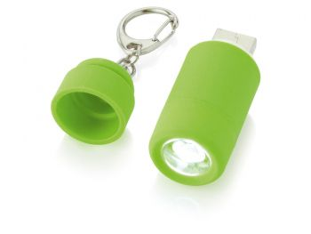 Мини-фонарь Avior с зарядкой от USB, зеленый