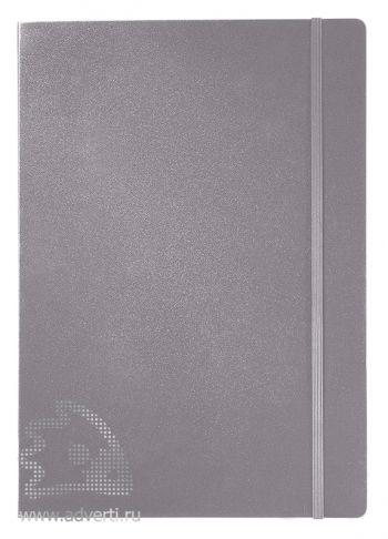 Записная книжка А4 «Journalbooks-2», серебристая