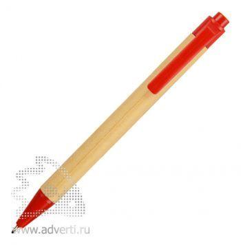 Блокнот А6 «Priestly» с ручкой, красный (ручка)
