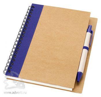 Блокнот А6 «Priestly» с ручкой, синий