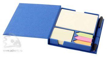 Блок для записей «Samba», синий, в открытом виде