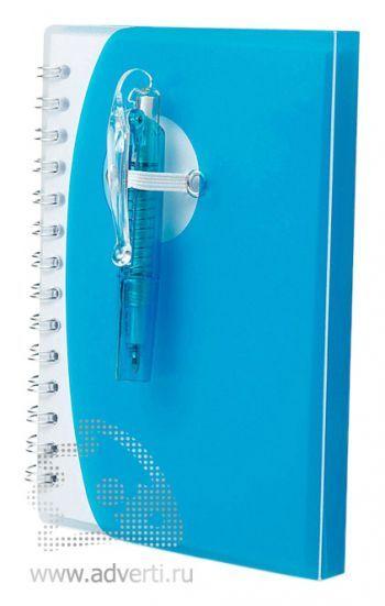 Блокнот А7 «Tribune» с ручкой, синий
