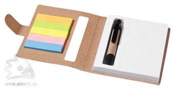 Набор стикеров «Reveal» с ручкой и блокнотом, неокрашенный, в открытом виде