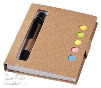 Набор стикеров «Reveal» с ручкой и блокнотом, неокрашенный
