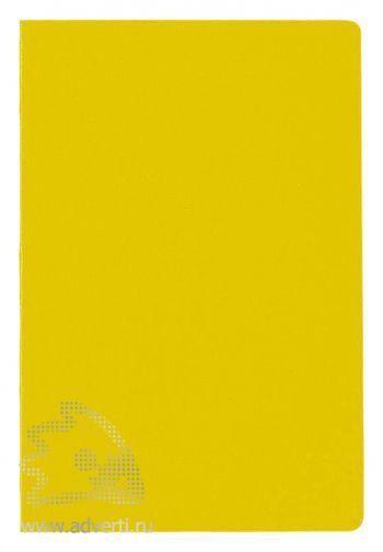 Блокнот А5 «City», желтый, анфас