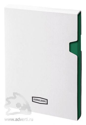 Блокнот А5 «City», зеленый, в коробке