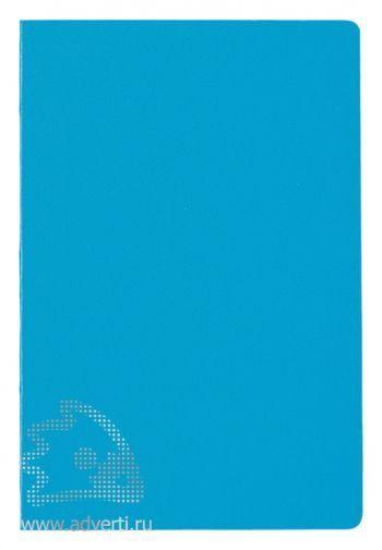 Блокнот А5 «City», голубой, в анфас