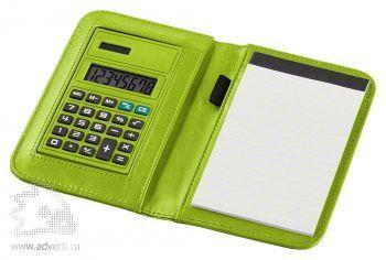 Блокнот А6 «Smarti» с калькулятором, зеленый, в открытом виде