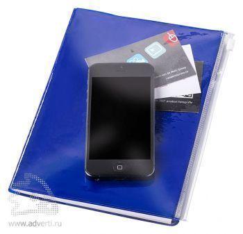 Блокнот А5 «Escape», синий, с карманом