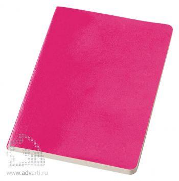 Блокнот А5 «Gallery», розовый, в ракурсе