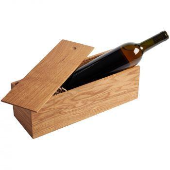 Пенал под бутылку «Treasure», открытый, с бутылкой