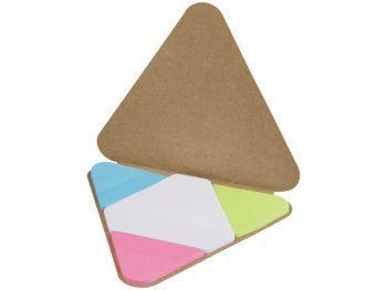 Треугольные стикеры, коричневый, открытый