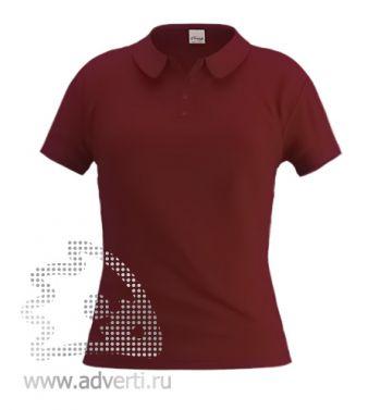 Рубашка поло «Stan Women», женская, темно-коричневая