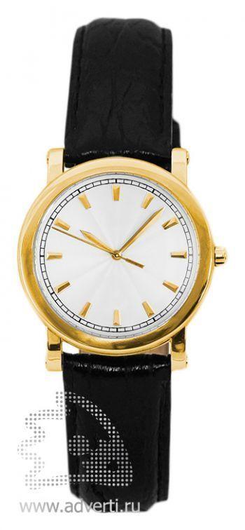 Часы наручные «Прага», женские, золотой корпус