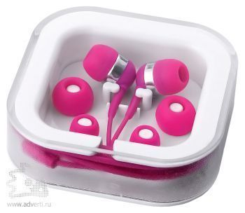 Наушники супер легкие «Sargas», розовые