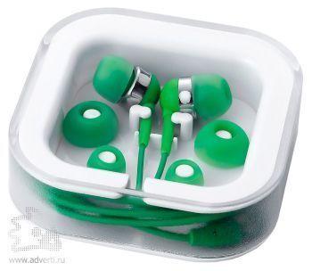 Наушники супер легкие, зеленые