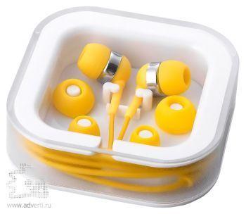 Наушники супер легкие, желтые