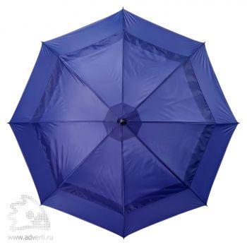 Зонт-трость «Degna» Slazenger с двойным куполом, механический, дизайн внешнего купола