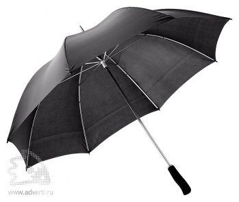Зонт-трость «Winner» с фигурной рукояткой, механический, черный