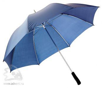 Зонт-трость «Winner» с фигурной рукояткой, механический, темно-синий