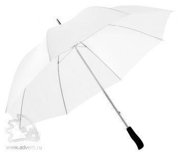 Зонт-трость «Winner» с фигурной рукояткой, механический, белый