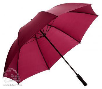 Зонт-трость «Jacotte» противоштормовой, механический, бордовый